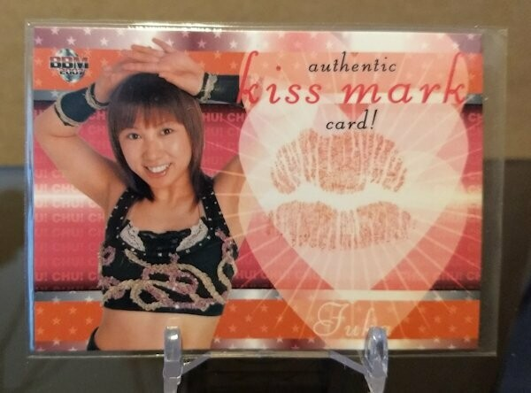 Fuka 2007 BBM Joshi True Heart Kiss Card /88