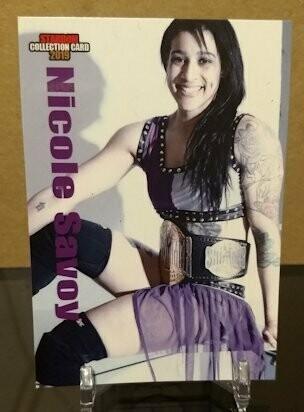 Nicole Savoy Stardom Collection Card 2019