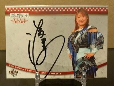 Tomoko Watanabe 2014 BBM Joshi True Heart Autograph /90