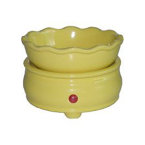 Yellow Candle Warmer/Melt Combo