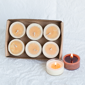 Soy Tea Lights: Six Count