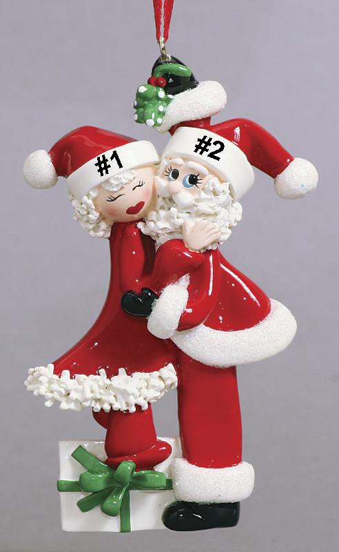 Mistletoe Santa Couple