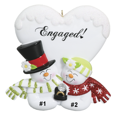 Snowman Engagement Couple