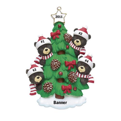 Bear Tree Family of 4
