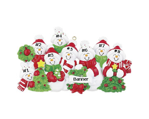 Snowman Family of 8