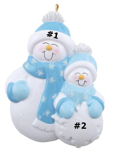 Single Parent Snowman Family of 2