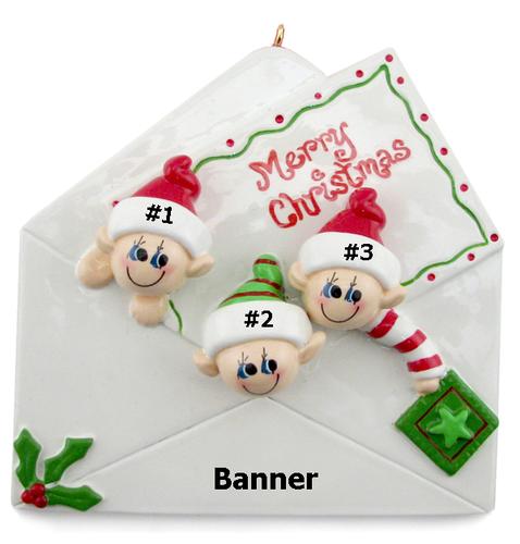 Elf Envelope Family of 3