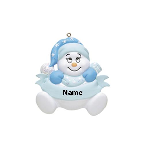 Blue Snowman Baby