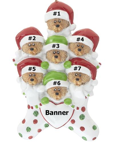Bear Stocking Family of 7