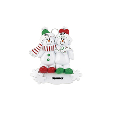 Cute Snowman Family of 2