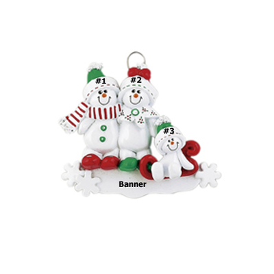 Sweet Snowman Family of 3
