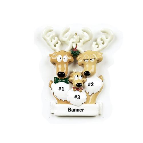 Reindeer Family of 3