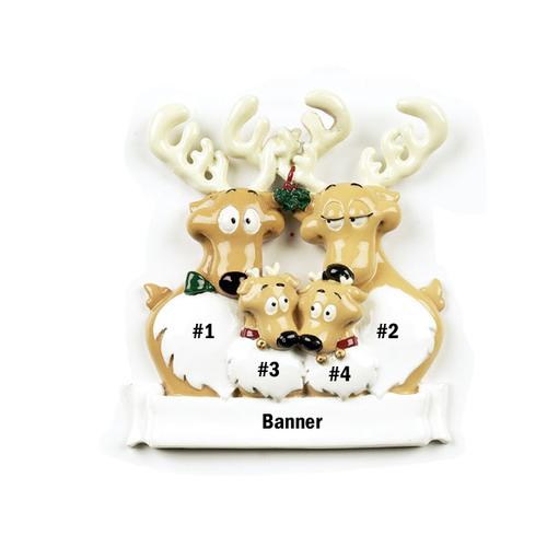 Reindeer Family of 4