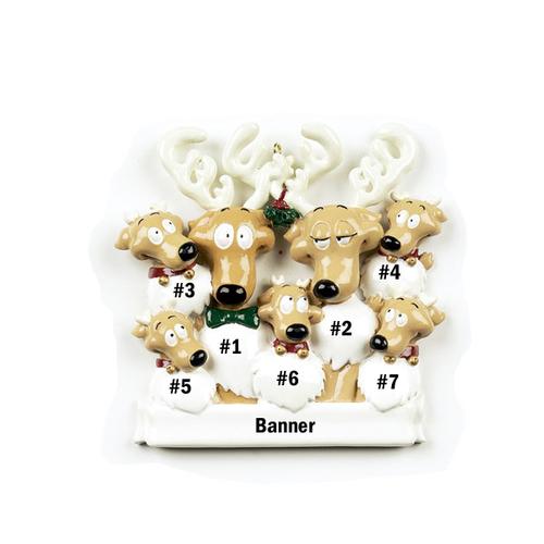 Reindeer Family of 7