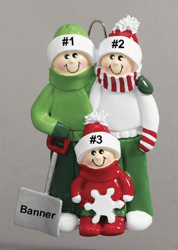 Snow Shovel Family of 3