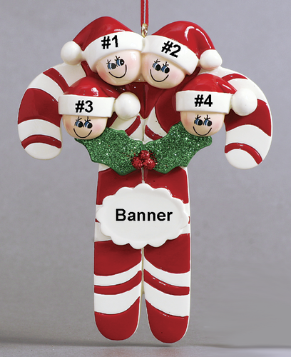 Candy Cane Family of 4