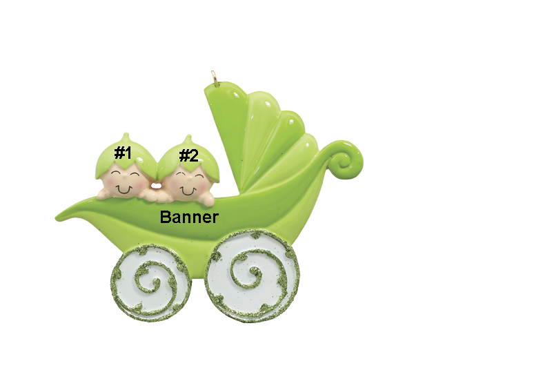 Twin Peapod Baby Carriage