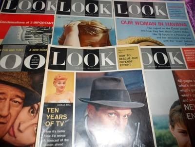 LOOK Magazine Lot of Six
