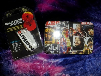 Ringo Starr's Liverpool 8 USB album & the Beatles Anthology Playing Cards Tin