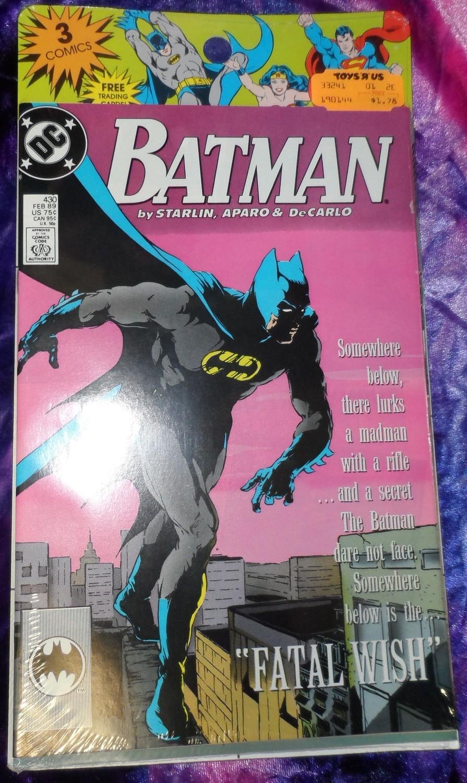 Batman Comics 3 pack 1989