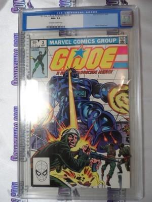 G.I. Joe : A Real American Hero #3 (First Printing) / CGC 9.6
