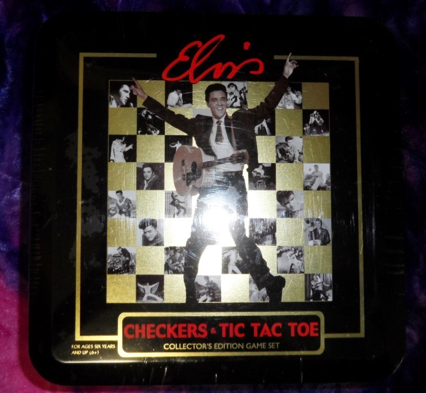 Elvis Collector's Edition Game Set Tin - Checker & Tic-Tac-Toe