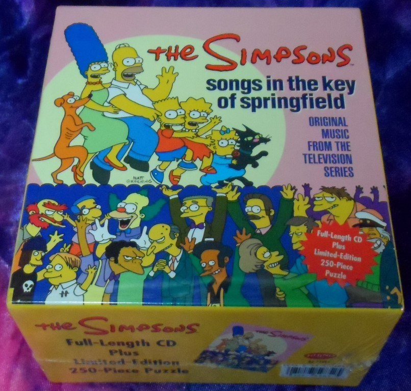 The Simpson -Songs in the Key of Springfield CD & Puzzle