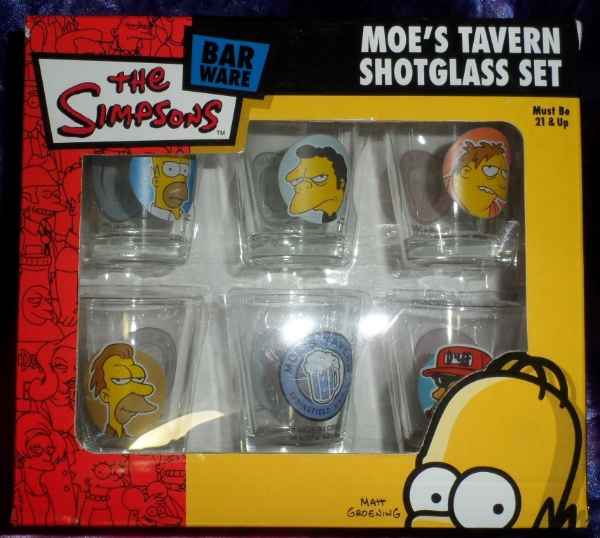 The Simpsons -Moe's Tavern Shotglass Set