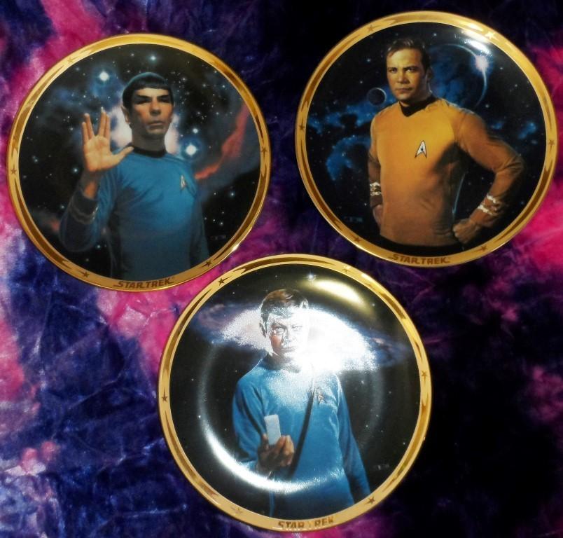 Star Trek Collector's Plates -Set of 3