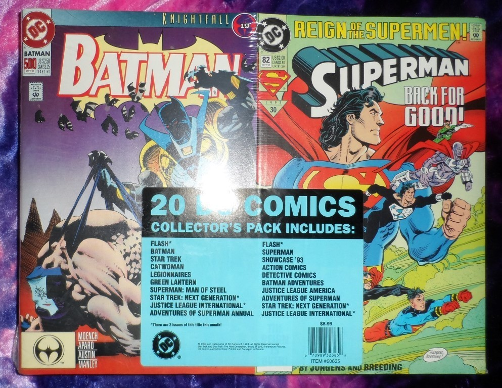 DC Comics Collector's Pack of 20 comics (OCT. 1993)