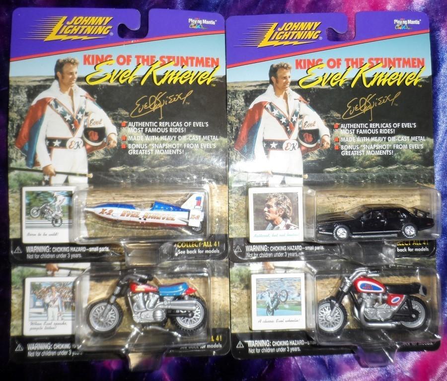 Johnny Lightning Evel Knievel Diecast Set of 4