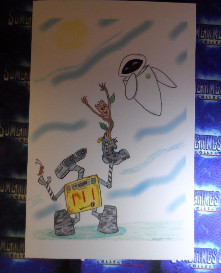 Wall-E, Groot, & Eve Greeting Card