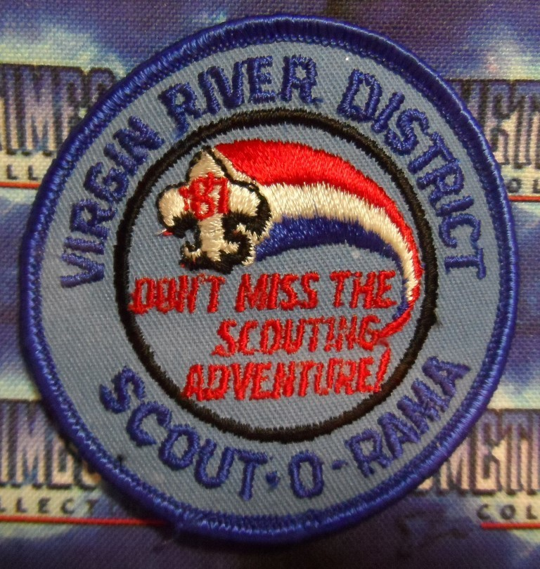 BSA Patch : Scout 'O' Rama - Virgin River District 1987
