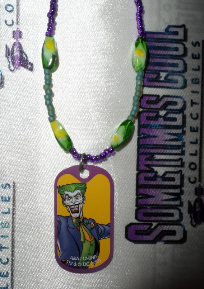 The Joker Dog Tag Beaded Necklace