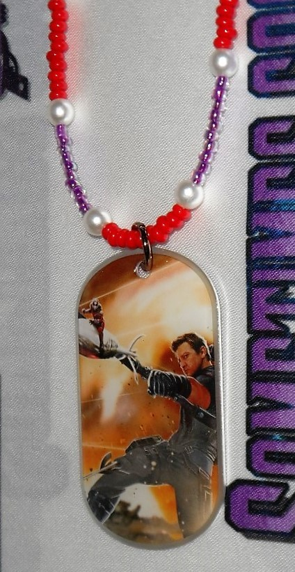 Captain America : Civil War Hawkeye & Ant-Man Dog Tag Beaded Necklace