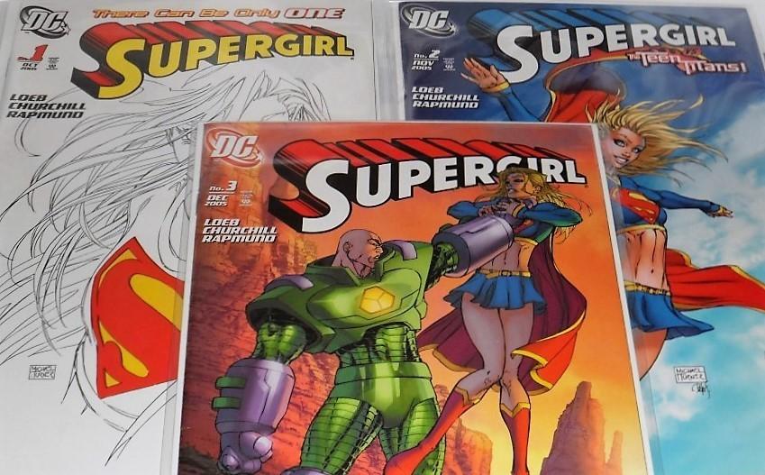 Supergirl Comic Book Set of Three (2005)