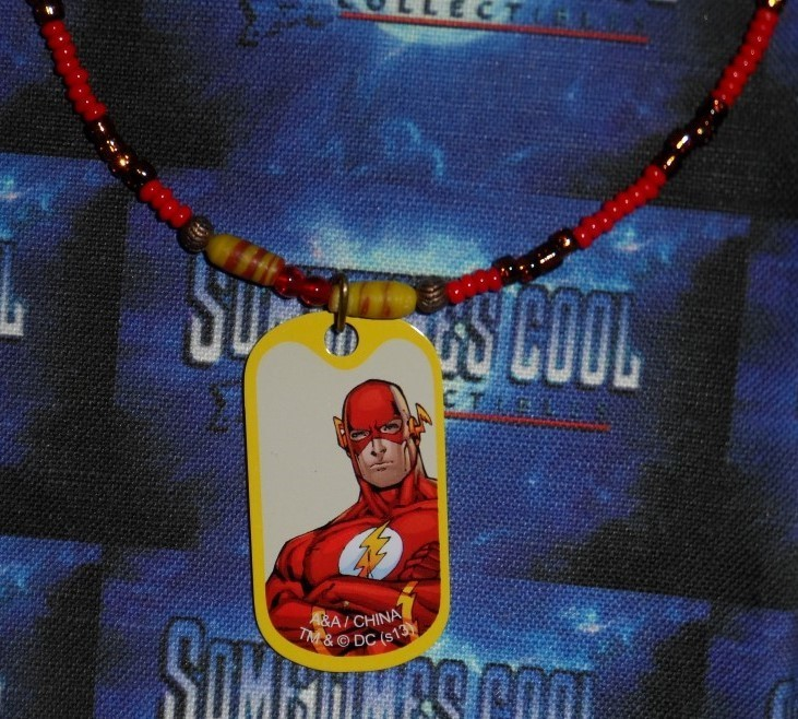 The Flash Dog Tag Beaded Necklace