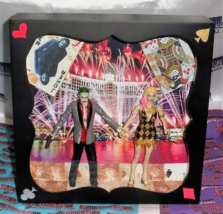 """Mad Love in Las Vegas"" : the Joker & Harley Quinn Shadowbox"
