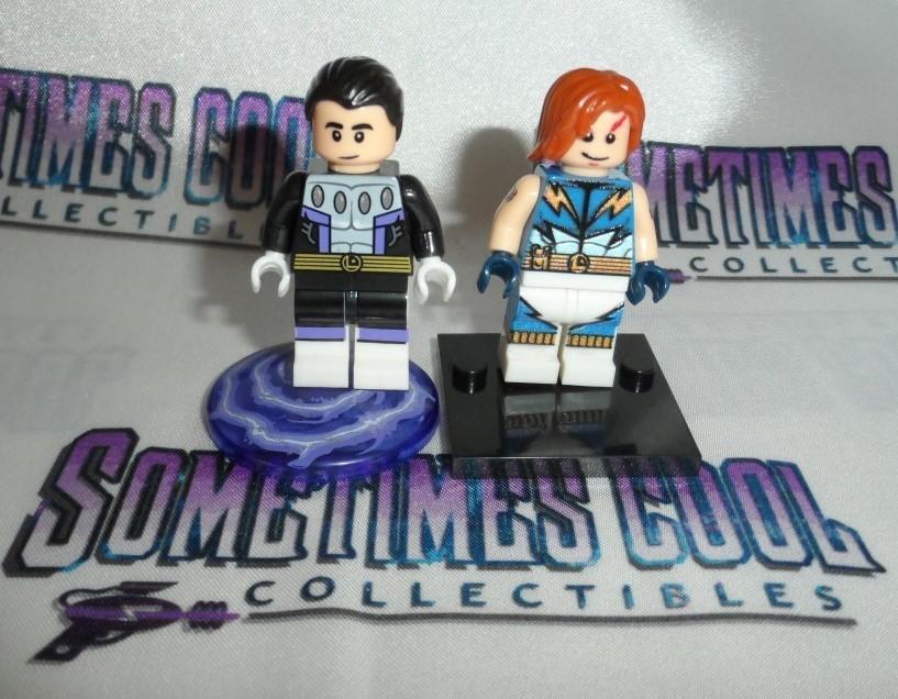 Mini Block Figures : Cosmic Boy & Lightning Lad