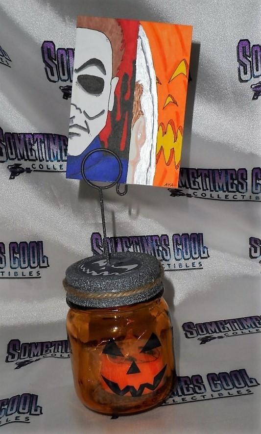 Halloween Sketch Card with Pumpkin Jar Stand
