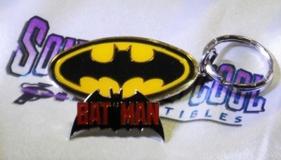 Retro Batman Keychain & Pin