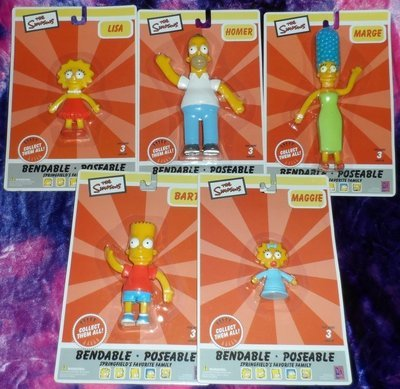 The Simpsons Family Bendies -Set of 5