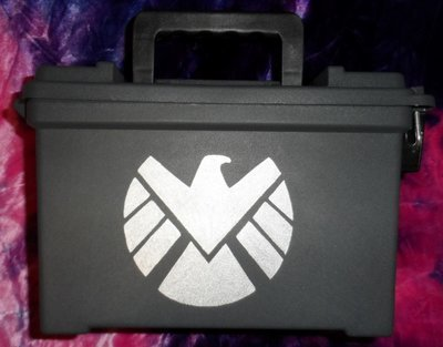 Ammo Box Customized - S.H.I.E.L.D logo
