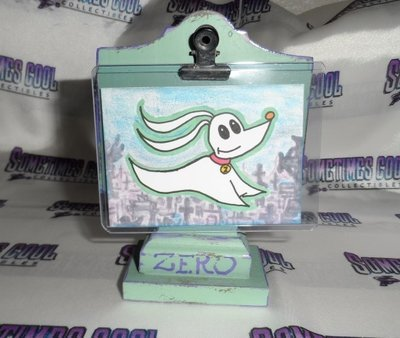 A Zero Sketch Card w/ Tombstone Stand