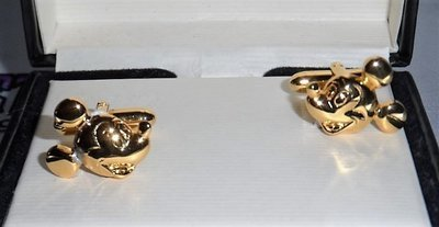 Mickey Mouse Gold Tone Cufflinks
