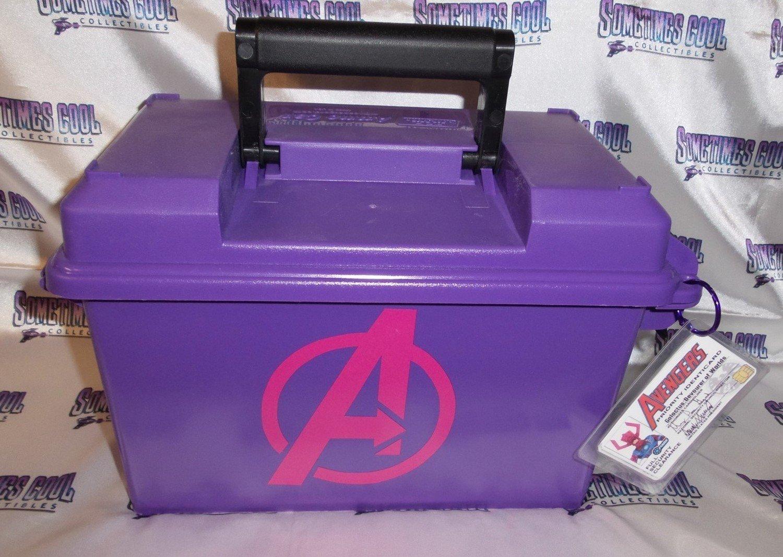 Ammo Box Large & Purple - the Avengers logo
