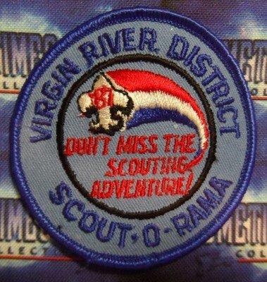 BSA Patch : Scout 'O' Rama - Virgin River District 1987