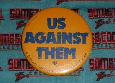 Us Against Them (Bantam Starfire Novel) Promo Button