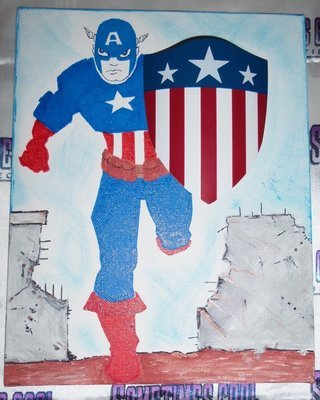 Captain America with Shield Painting