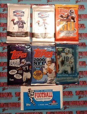 Football Trading Cards Set (7 packs)